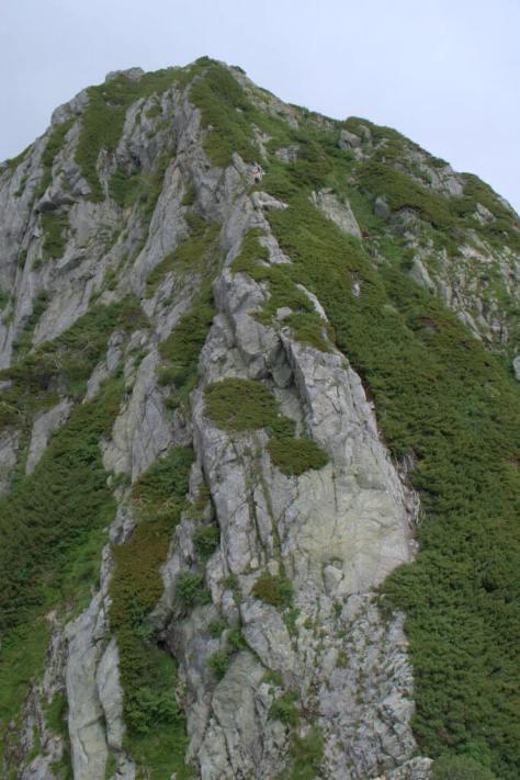 剱岳源次郎尾根 Ⅰ峰上部からⅡ峰を望む