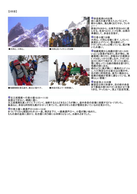 春の雪山展望/赤岳を歩く!2