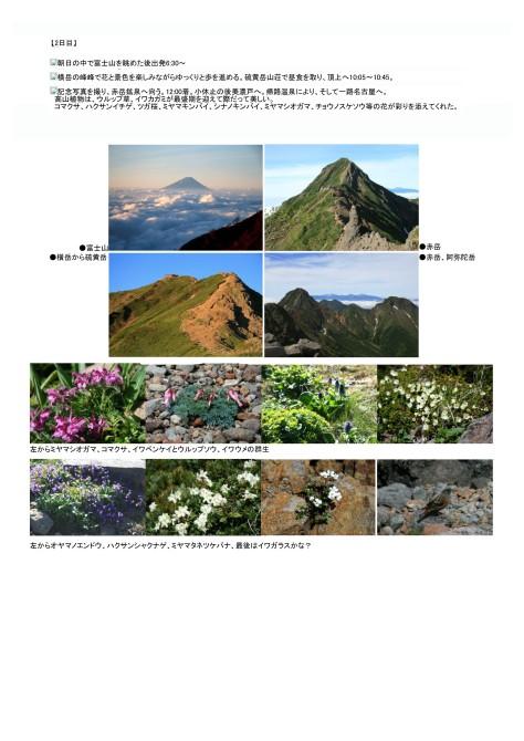 赤岳主嶺の縦走と高山植物を楽しむ2