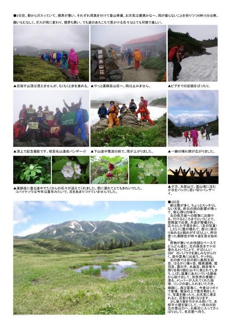 百名山達成記念「薬師岳」2