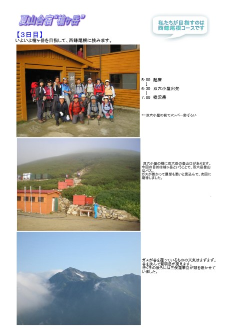 槍ヶ岳(夏山合宿)6