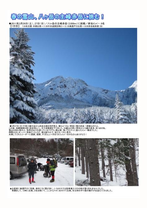 春の雪山、八ヶ岳の主峰赤岳に挑む!1