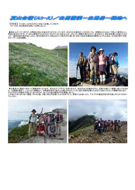 白馬雪渓-白馬岳-栂池へ(夏山合宿)4