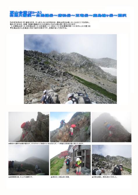 白馬大雪渓-白馬鑓岳-唐松岳-五竜岳-鹿島槍ヶ岳-扇沢(夏山合宿)6