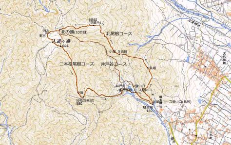 入道ヶ岳地図
