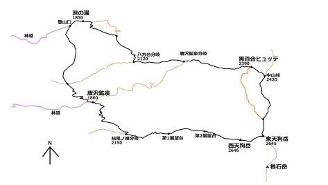 天狗岳地図(報告書)2