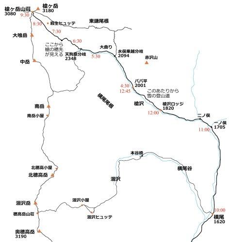 槍ヶ岳報告書地図