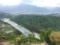 木曽川と恵那山が一望