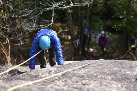 トップロープで登る練習