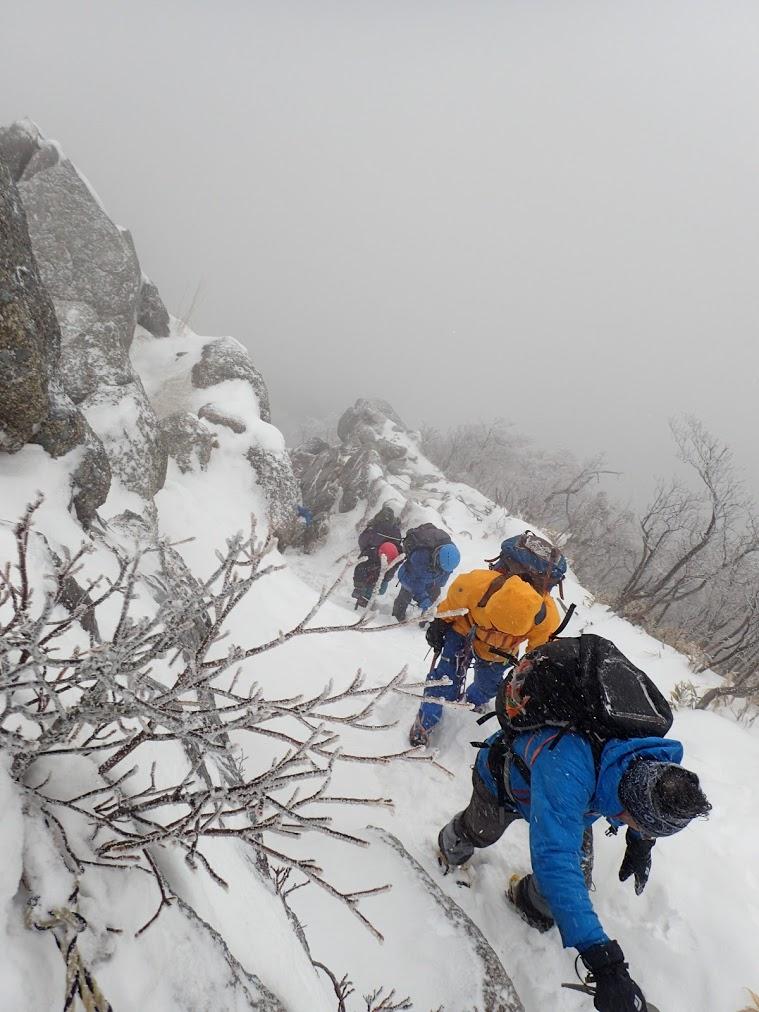 2018/02/11 鎌ヶ岳 三ツ口尾根を登る