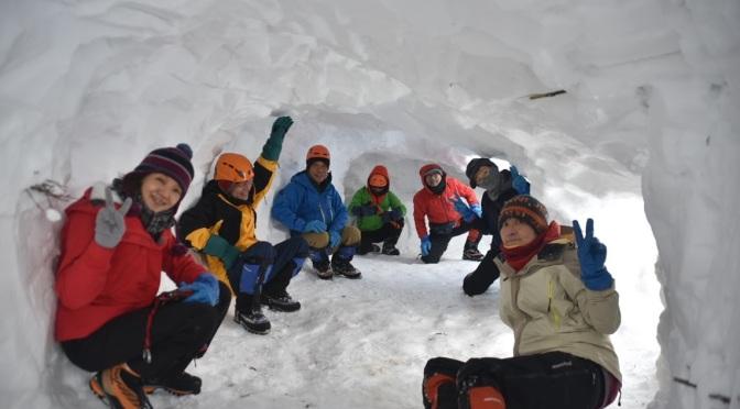 2019/02/16―17 大日ヶ岳雪洞訓練