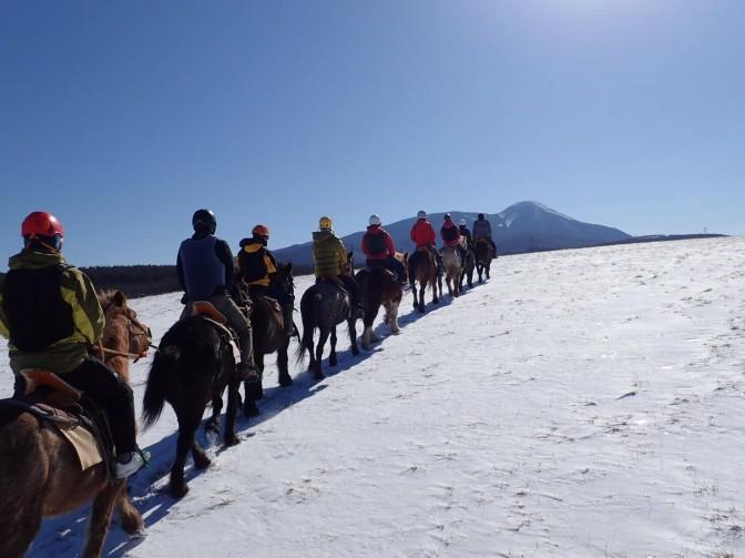 2019/01/19-20 乗馬体験と霧ヶ峰高原スノーハイク山行